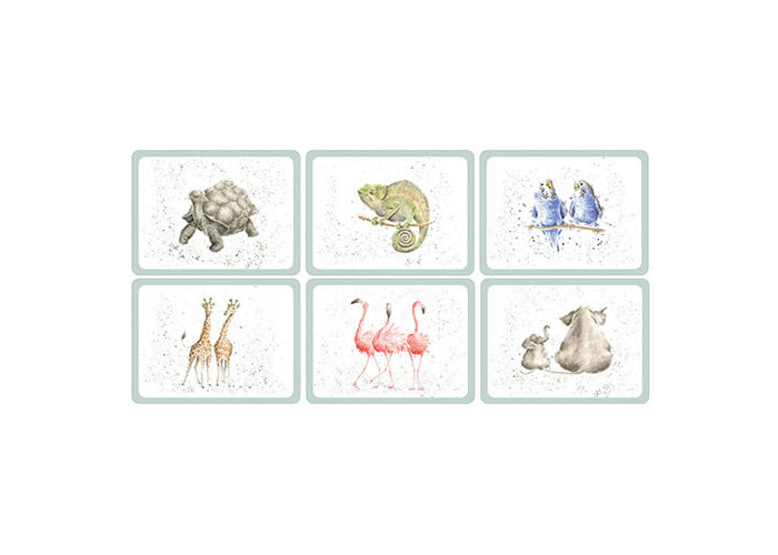 Wrendale Designs Zoological Placemats Set Of 6 - 1