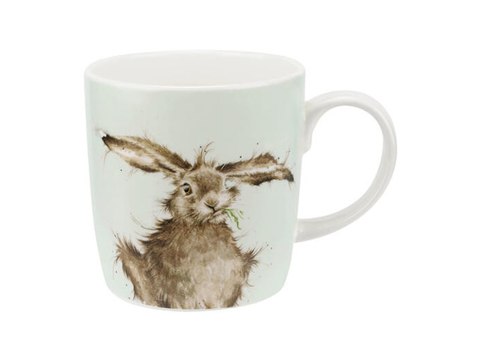 Wrendale Hare Brained Mug, Multi-Colour - 1