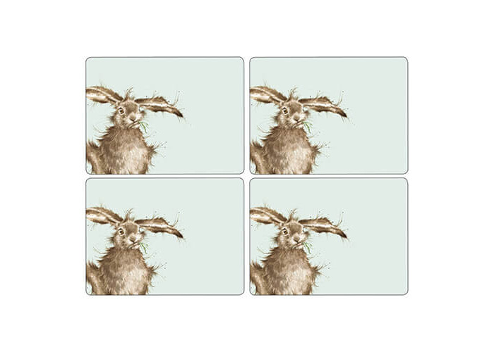 Wrendale Hare Placemats - Set of 4 (Large) - 1