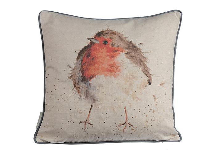Wrendale Jolly Robin Cushion - 1