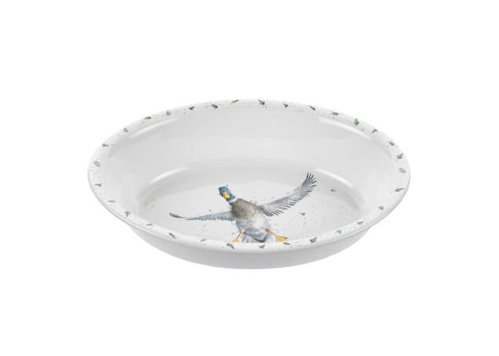 Wrendale Oval Rim Dish (Duck), Bone China, Multi Coloured, 23 x 31 x 7 cm - 1