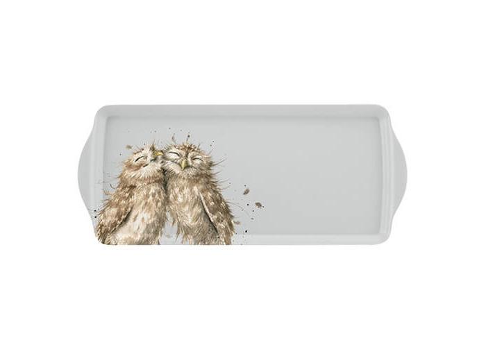Wrendale Sandwich Tray (Owl), Melamine, Multi Coloured, 2 x 16.5 x 38.5 cm - 1