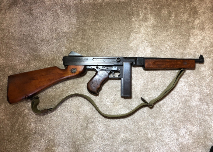 WW2 Thompson Submachine Gun - Firing Prop Replica Tommy Gun - With 50 Rounds & Sling (Price includes Armourer) - 1