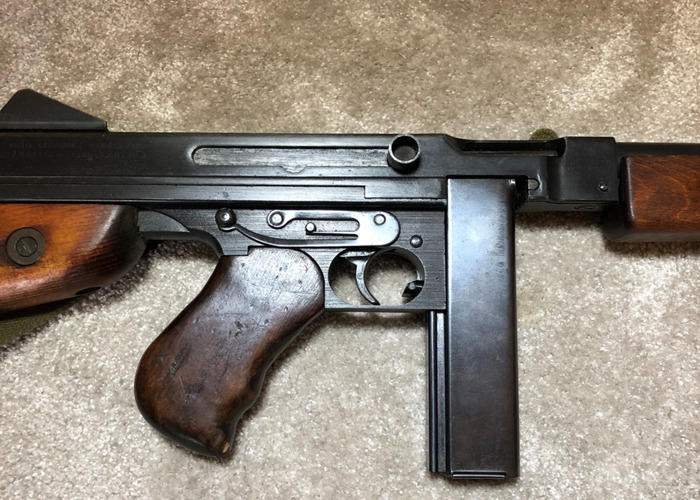 WW2 Thompson Submachine Gun - Firing Prop Replica Tommy Gun - With 50 Rounds & Sling (Price includes Armourer) - 2