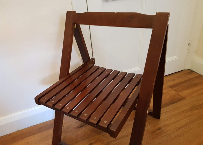 X1 Wooden Bistro Chair - Easy Fold Up Garden Picnic - 1