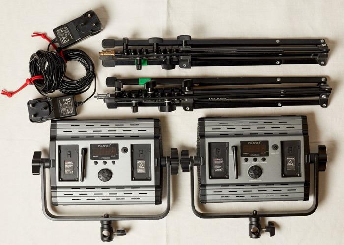 x2 LECO 500B II BI COLOUR LED VIDEO LIGHT PANELS - 1