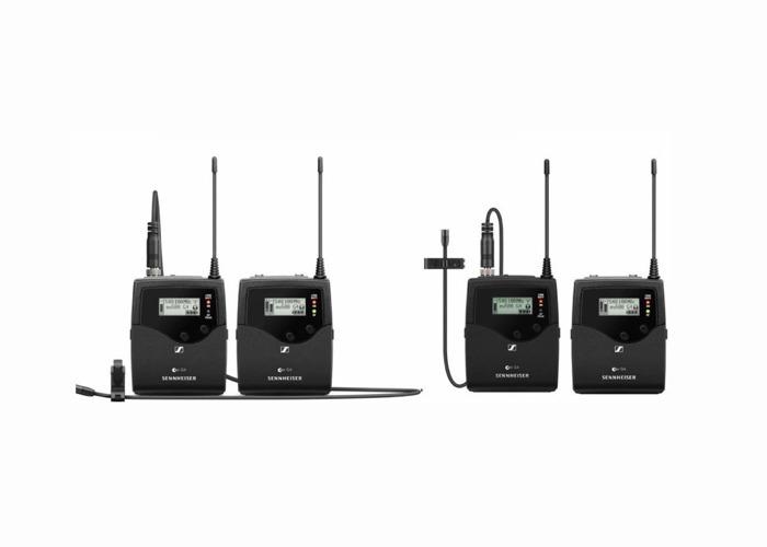 x2 Sennheiser ew512P G4 Lavalier Mic lapel microphone wireless radio system with clip lapel mic - 1