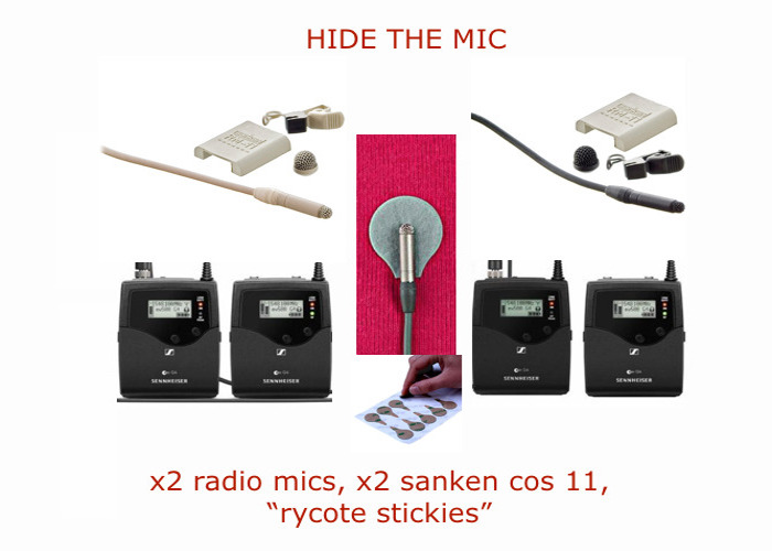 X2 Sennheiser ew512P G4 Lavalier Mic lapel microphones  (sanken cos11, hidden, hide, radio sound , wireless recording) wireless radio system with clip lapel mic - 1
