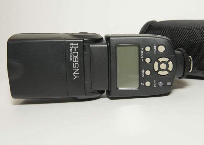 x2Yongnuo YN-560 II Flash with Standard Hot Shoe with Manual - 1
