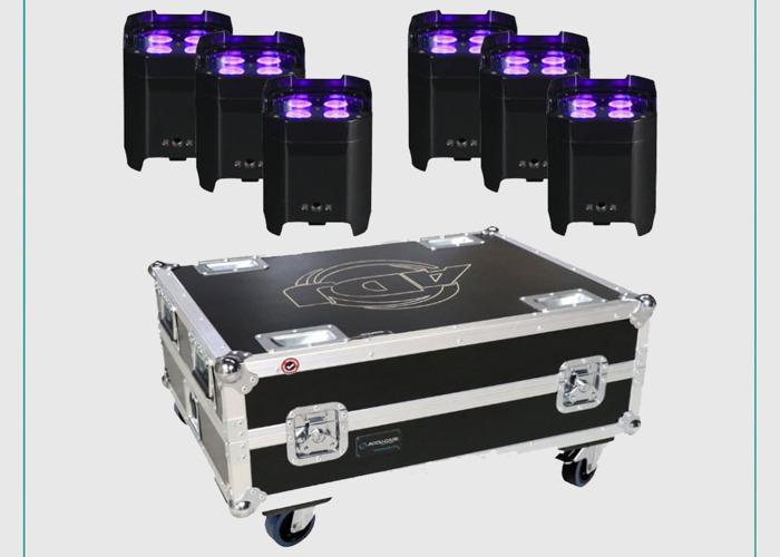 x6 ADJ Element Hex IP Wireless Uplights Bundle  - 1