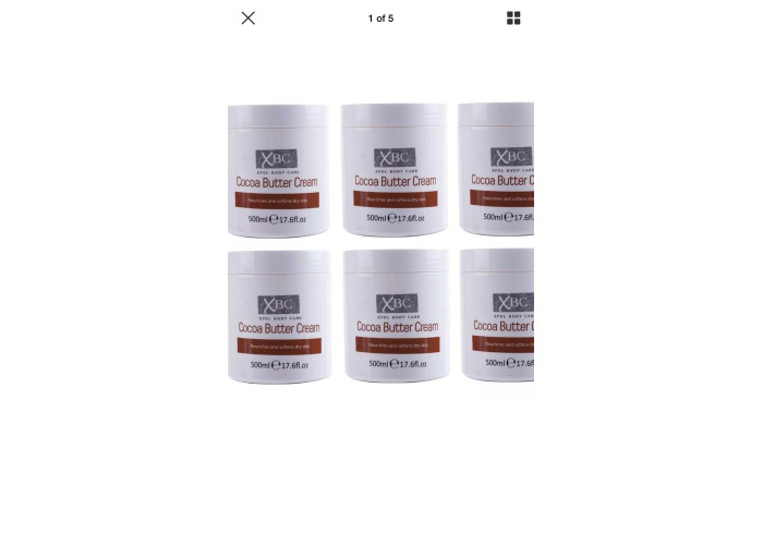 XBC Cocoa Butter Cream  Large Tub Nourishes and Softens Dry Skin( 6 X 500ml ) - 1