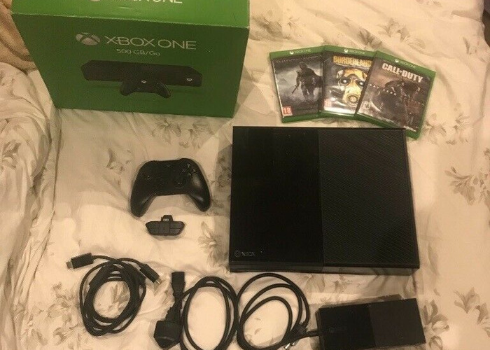 Buy Xbox one 500gb bundle, controller, games, headset adapter, console