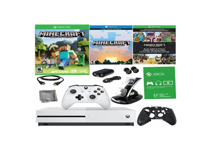 Xbox one S White 500gb, you can add your xbox account and play some games. - 1