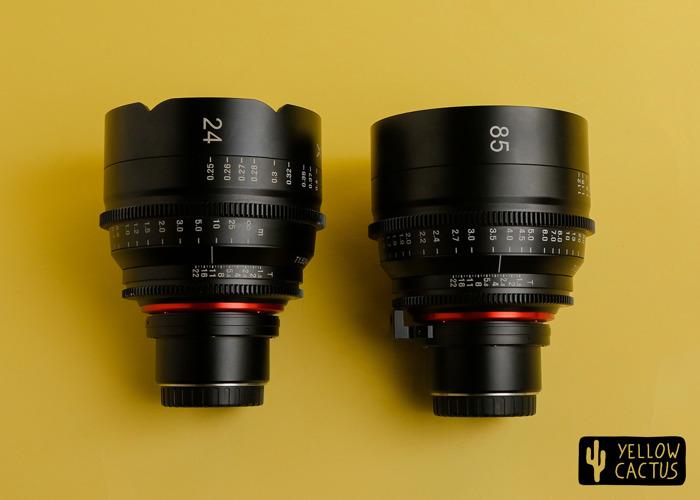 Xeen Bundle 24mm + 85mm t1.5 MFT Mount - Rokinon Cine Prime - 1
