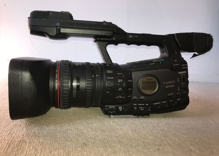 XF300 camera, sound gear and dedolight..  - 2