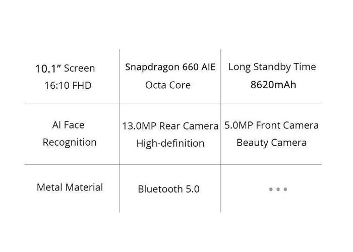 "Xiaomi Mi Pad 4 PLUS LTE 10.1"" Snapdragon 660 2.2GHz 64GB + 4GB RAM WFI + SIM - 1"