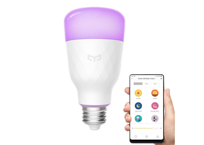 Xiaomi Yeelight YLDP06YL E26 E27 10W RGBW Smart LED Bulb Wifi App Control AC100-240V - 1