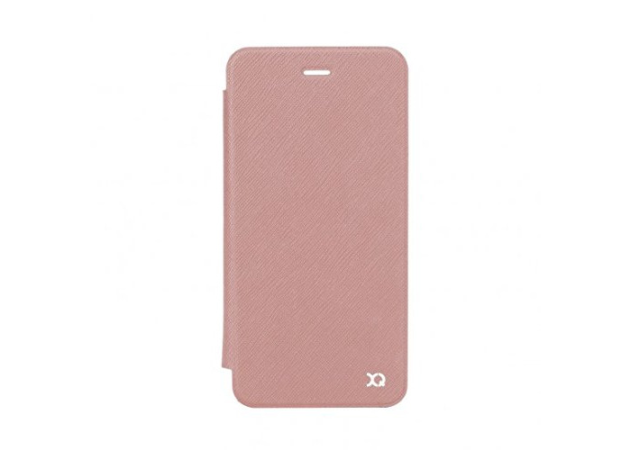 Xqisit Adour Champagne Pink Flip Case with Transparent Back Cover for iPhone 6/6S - 1