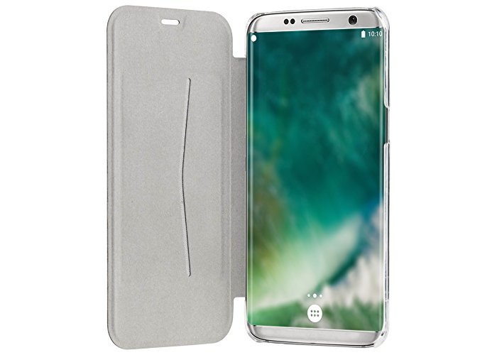 XQISIT Flap Adour Cover Case for Samsung Galaxy S8 Plus - Grey - 2