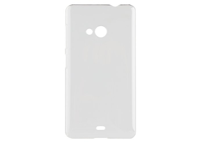 Xqisit Iplate Glossy Transparent Case for Nokia Lumia 535 - Clear - 1