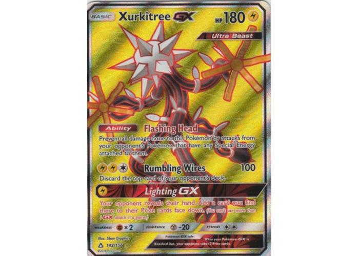 Xurkitree GX 142/156 Full Art Ultra Rare Pokemon Card Sun & Moon: Ultra Prism - 1