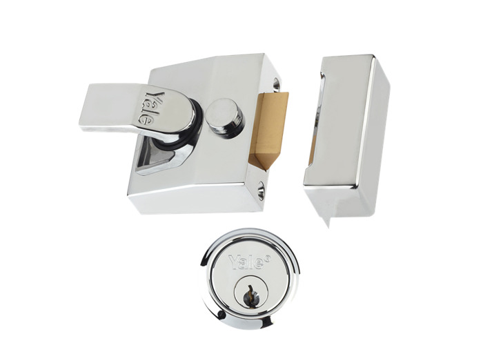 YALE 85 & 89 Deadlocking Nightlatch - 40mm Chrome CH Cyl  - 1