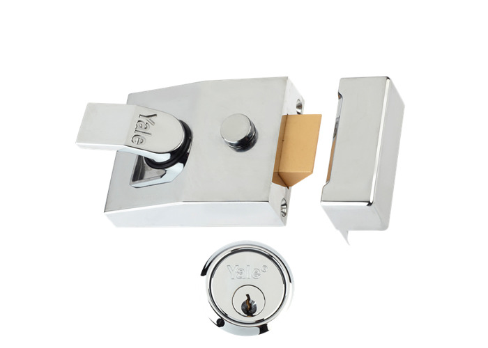 YALE 85 & 89 Deadlocking Nightlatch - 60mm Chrome CH Cyl  - 1