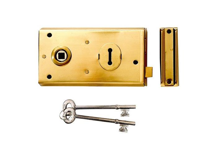Yale Locks 60401305077 P401 Rim Lock Grey Finish 138 x 76mm Visi - 1