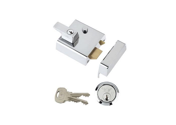 Yale Locks 630002215162 P2 Double Security Nightlatch 40mm Backset Chrome Finish Visi - 1