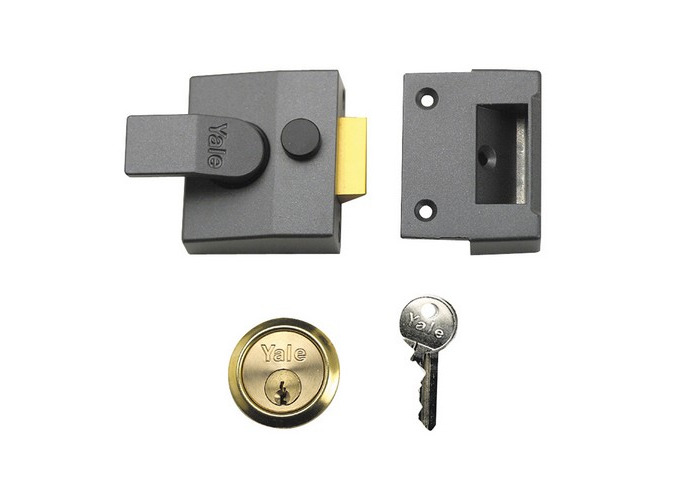 Yale Locks 630085005702 P85 Deadlocking Nightlatch 40mm Backset DMG Finish  Visi