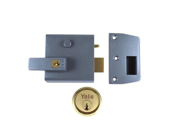 YALE No.1 & No.2 Auto Deadlocking Nightlatch - 60mm DMG / PB  - 1
