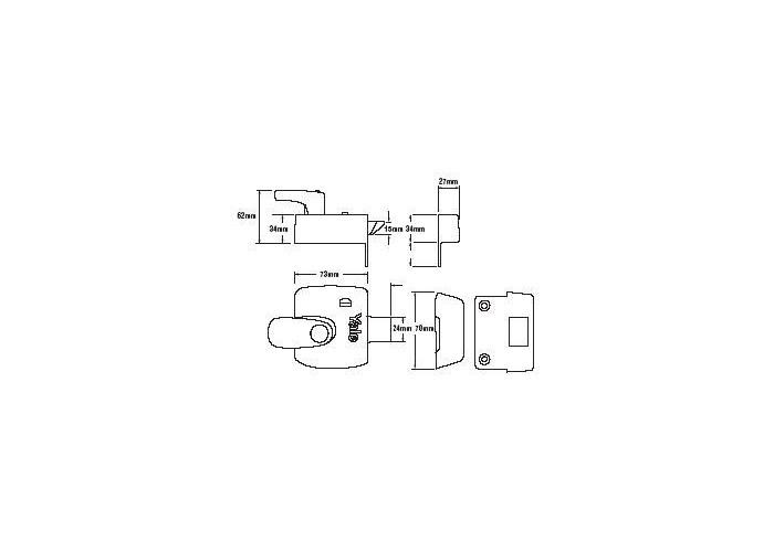 Yale X9 Safety Handle Nightlatch 60mm-Polished Brass  - 2