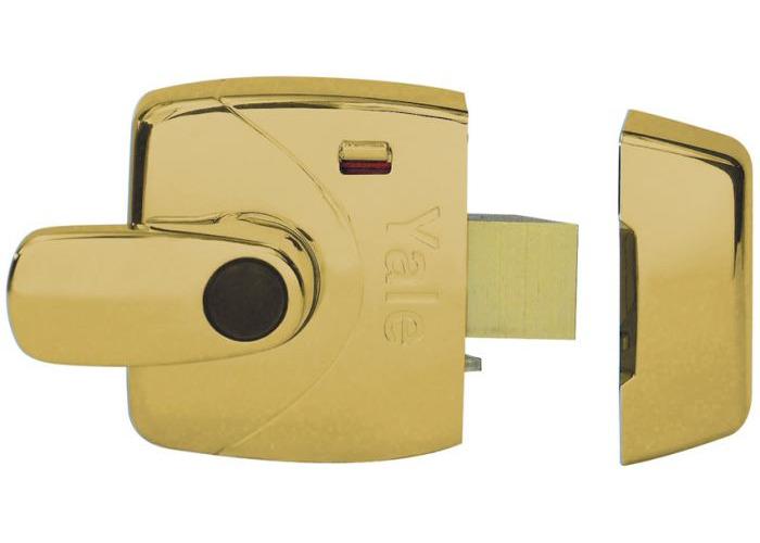 Yale X9 Safety Handle Nightlatch 60mm-Polished Brass  - 1