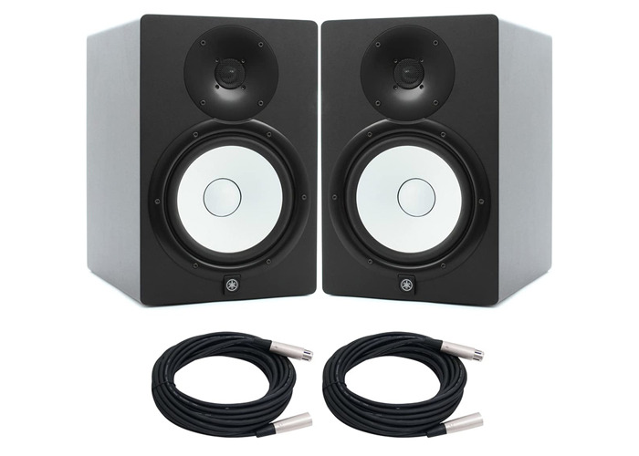 Yamaha HS8 Studio Monitor x 2 with XLR Cables - 1