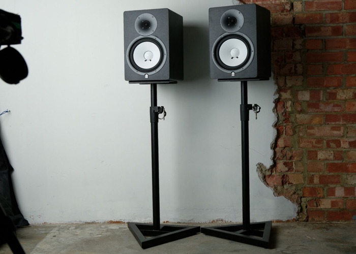 Yamaha HS80m with Stands (Pair) Studio Monitor Speakers - 1
