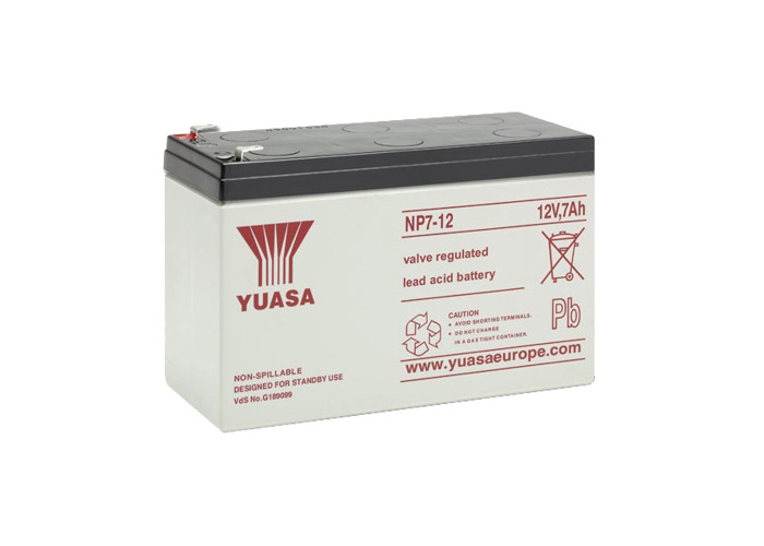 YUASA 12VDC Battery - 7 Amp - 1