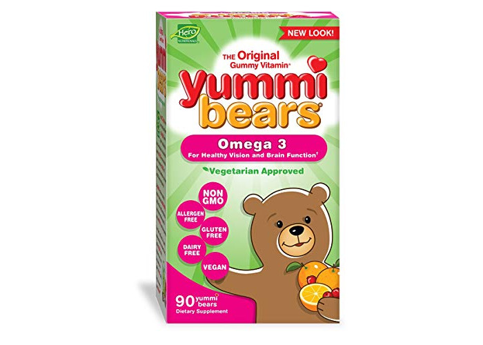 Yummi Bears Fish Free Omega 3 with Chia Seed Supplement for Kids, 90 Gummy Bears - 1