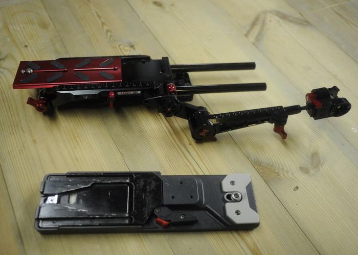 Zacuto VCT Pro Baseplate, Trigger grip + Sony VCT  - 2