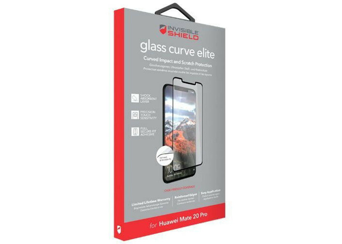 Zagg Invisible SHIELD Glass Curve Elite Huawei Mate 20 Pro Protector - 1