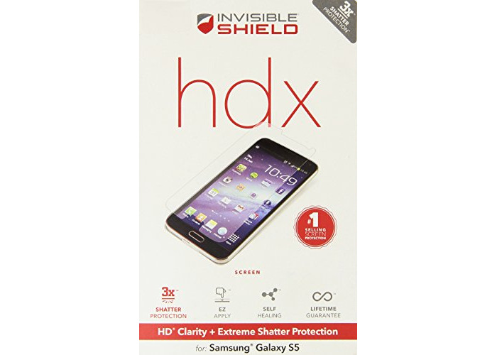 ZAGG InvisibleShield HDX Screen Protector - HD Clarity + Extreme Shatter Protection for Samsung Galaxy S5 - 2
