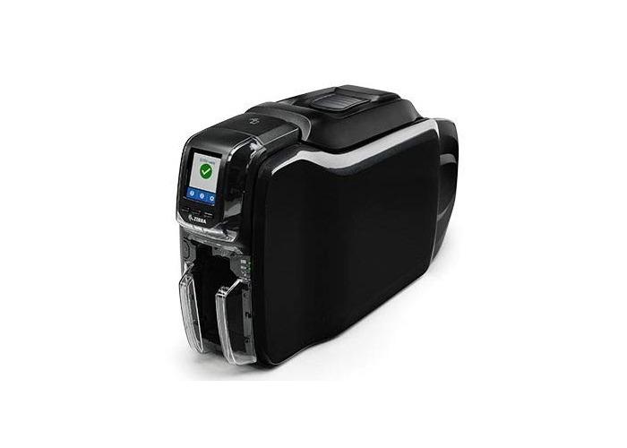 Zebra ID Card Printer ZC300, UK/EU Cord, Windows Driver. Security Pass (Dual Sided, USB & Ethernet, ISO HiCo/LoCo Mag S/W) - 1