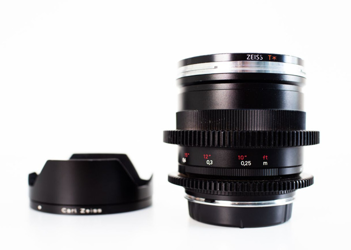 Zeiss 25mm *T F/2.0 ZF Distagon Lens (with lens gear)  - 2