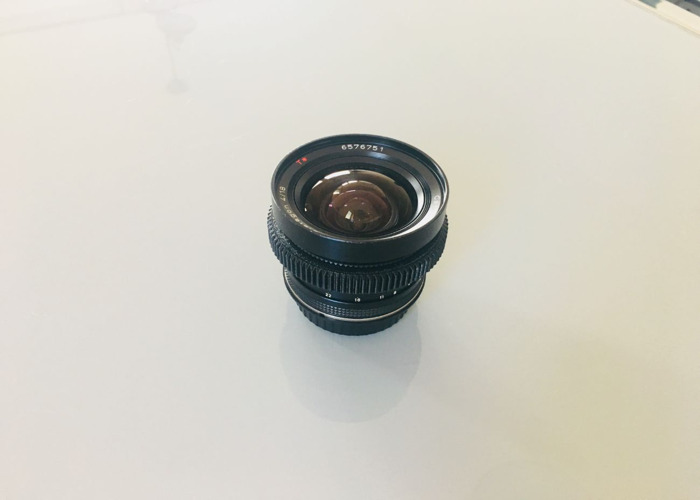 Vintage Zeiss Contax 18mm EF Lens EF (Canon) mount  - 1