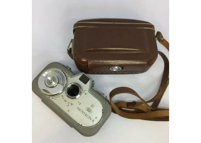 Zeiss Ikon Movikon 8 movie camera working vintage display 8mm- case TESTED. #562 - 1
