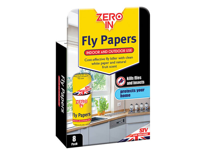 Zero In Fly Papers Pack Of 8 - 2