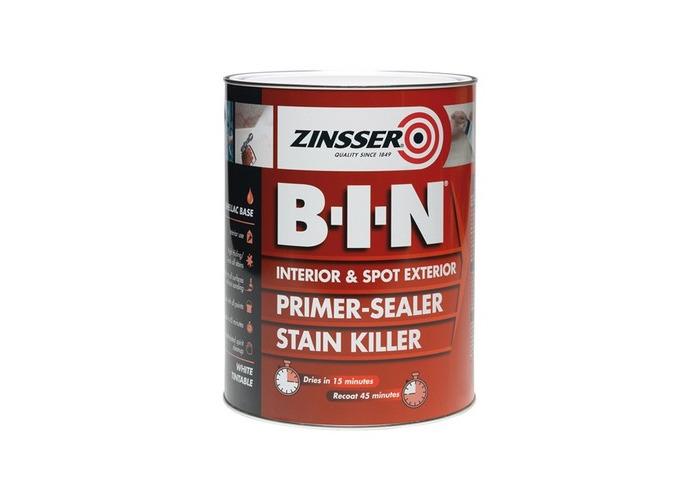 Zinsser ZN7020001D1 B.I.N Primer & Sealer Stain Killer Paint 1 Litre - 1