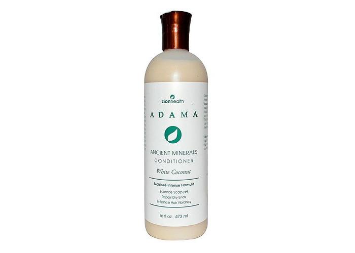 Zion Health, Adama, Ancient Minerals Conditioner, White Coconut, 16 fl oz (473 ml) - 2