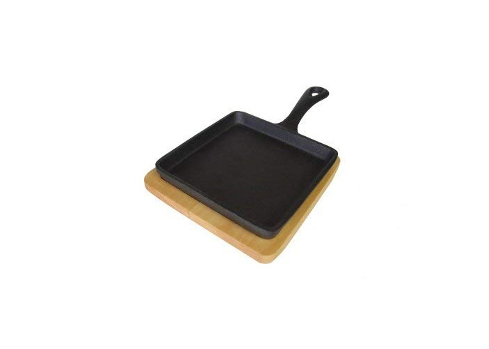 Zodiac 7122 Cast Iron Mini Square Skillet/14 cm x 14 cm - 1