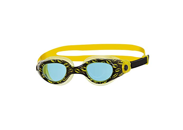 Zoggs Kids' DC Super Heroes Batman Printed Swimming Goggles, Black/Yellow/Blue, 0-6 Years - 1