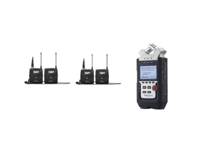 Zoom 4 recorder + 2x lapel G3 sennheiser - 1